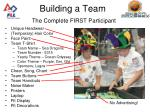 building a team the complete first participant