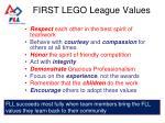 first lego league values