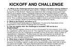 kickoff and challenge