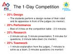the 1 day competition