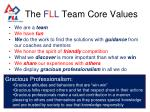 the f l l team core values