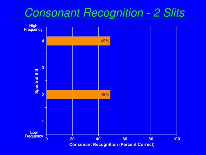 Consonant Recognition - 2 Slits