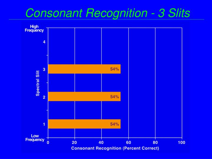 Consonant Recognition - 3 Slits