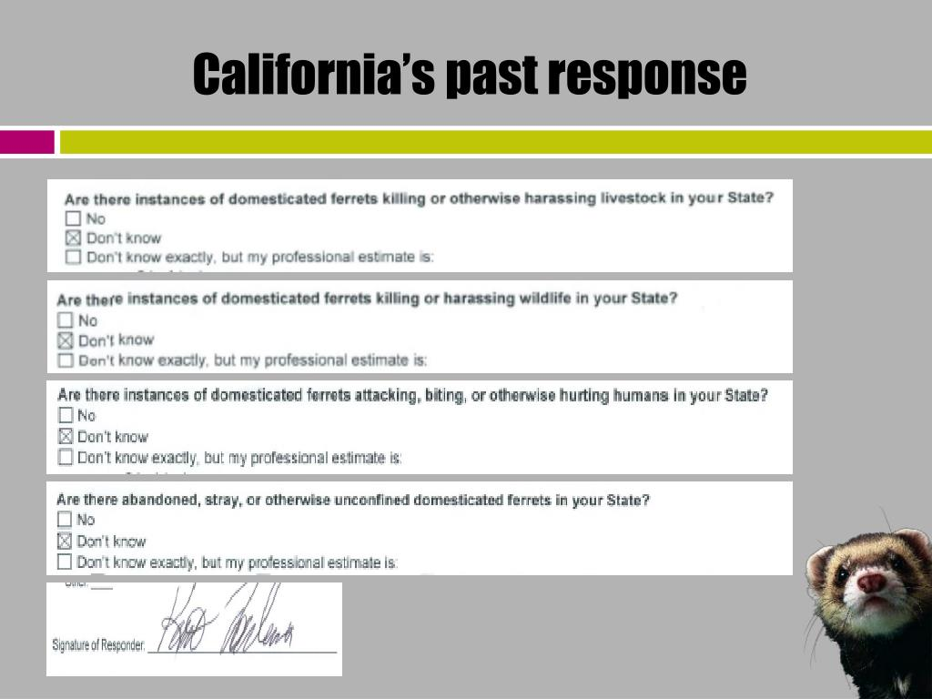 California's past response