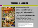 reasons to legalize