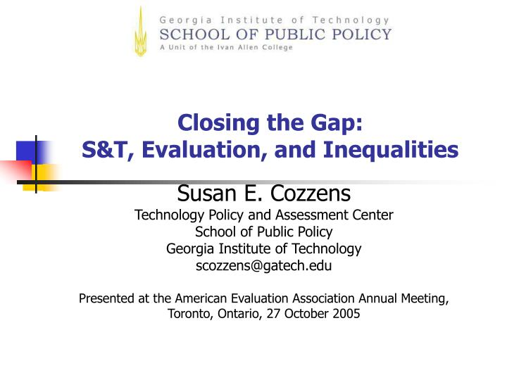closing the gap s t evaluation and inequalities n.