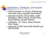 collaborators colleagues and support
