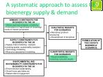 a systematic approach to assess uk bioenergy supply demand