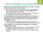 main messages bio heat msa