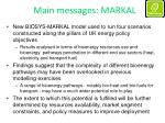 main messages markal