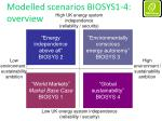 modelled scenarios biosys1 4 overview