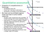 quantitative assessment