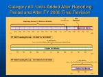 category 3 units added after reporting period and after fy 2006 final revision