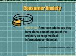 consumer anxiety