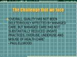 the challenge that we face1