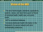 vision of the nhii