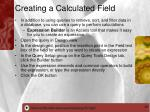 creating a calculated field