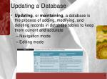 updating a database