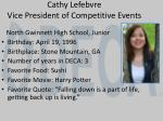 cathy lefebvre vice president of competitive events