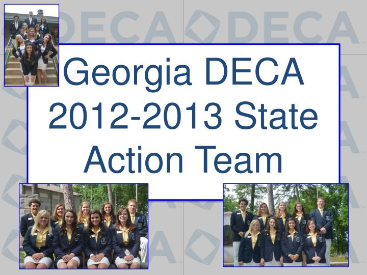 georgia deca 2012 2013 state action team n.