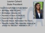 lauren calvert state president