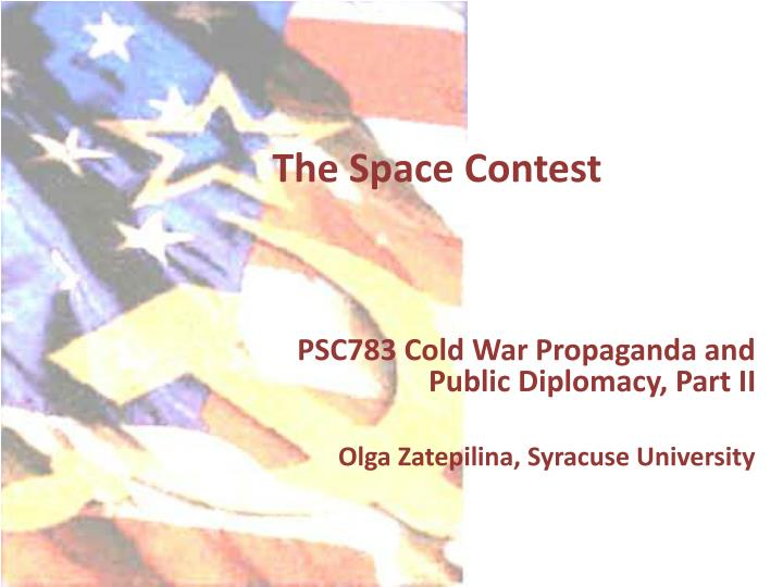 the space contest n.