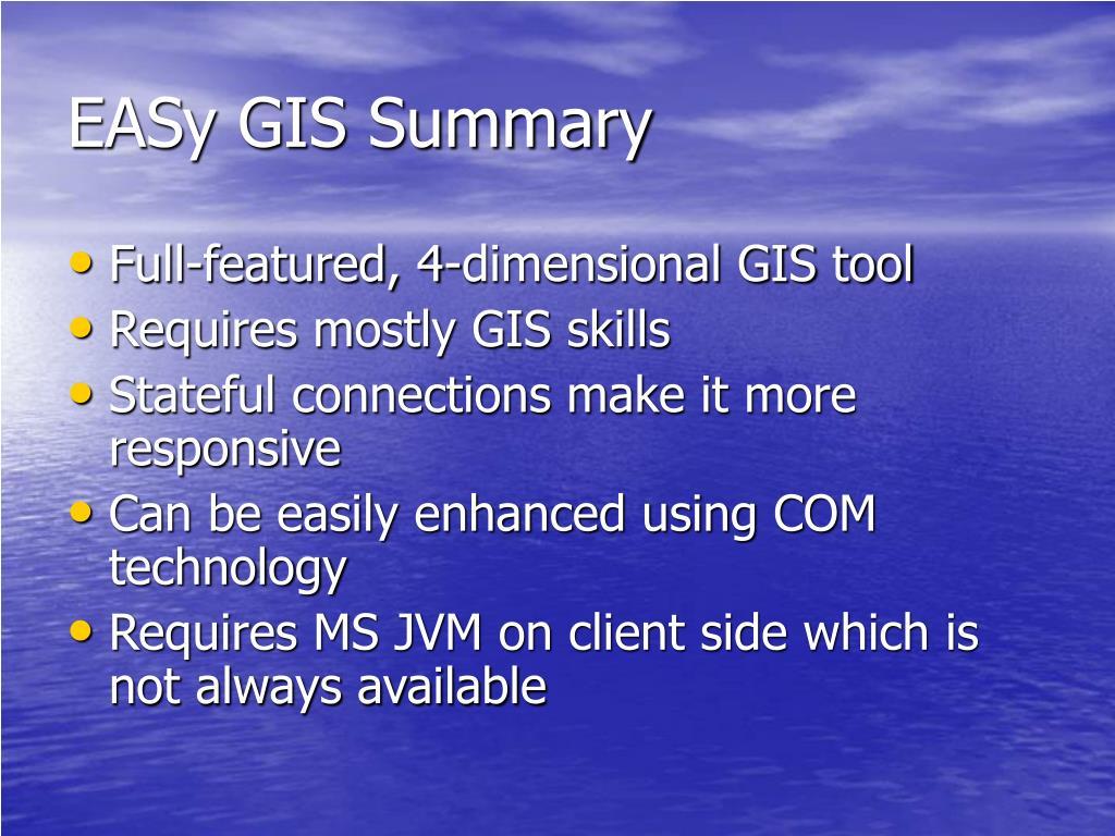 EASy GIS Summary