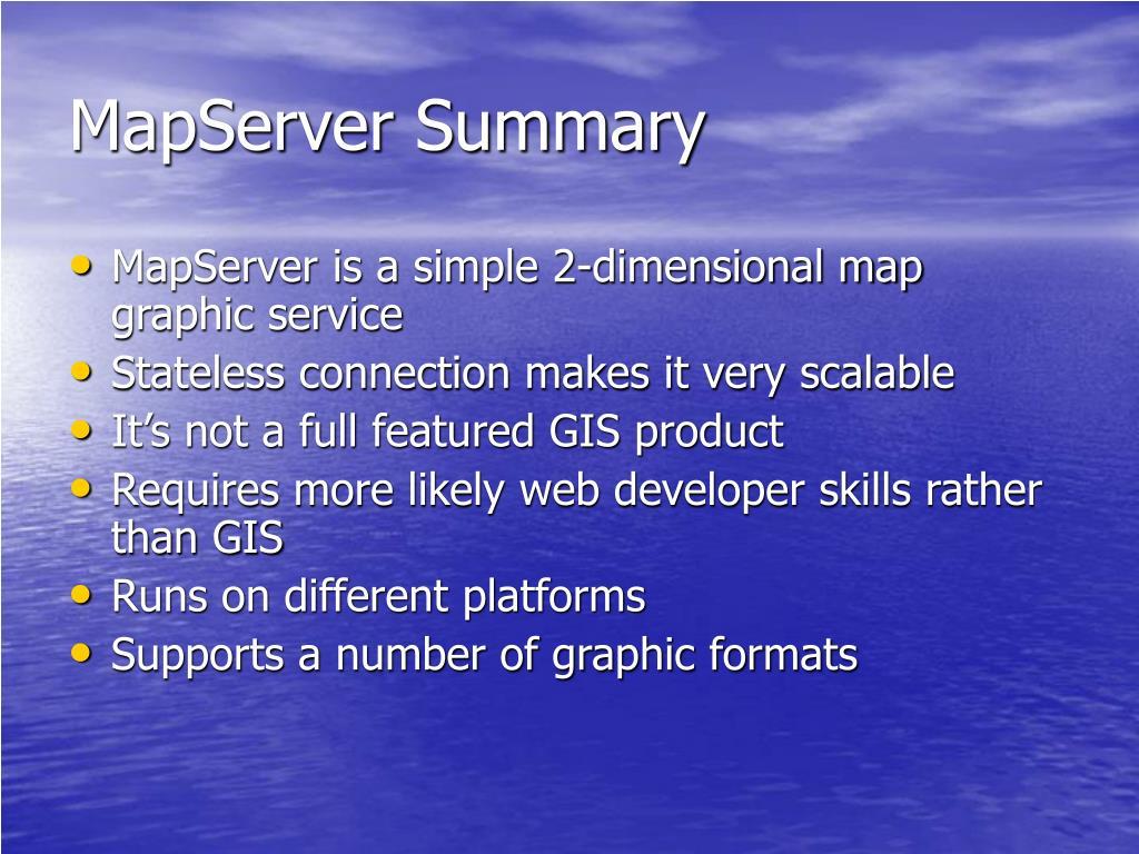MapServer Summary