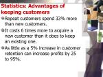 statistics advantages of keeping customers