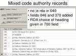 mixed code authority records