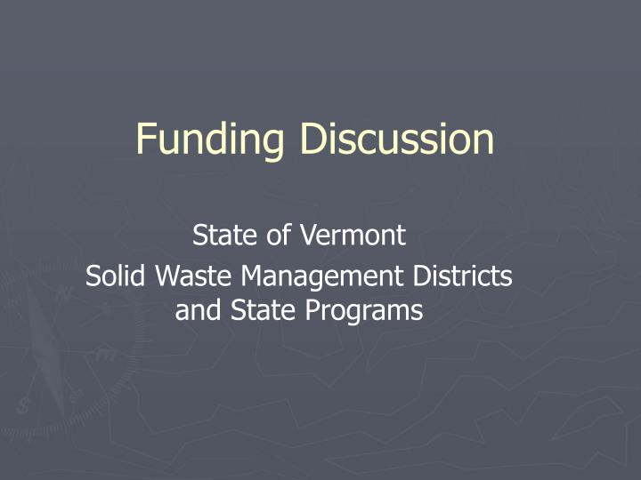 funding discussion n.