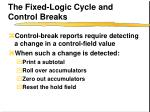 the fixed logic cycle and control breaks
