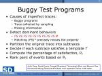 buggy test programs