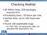 checking redhat