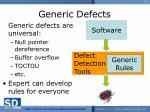 generic defects