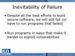 inevitability of failure