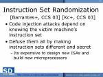 instruction set randomization