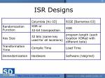 isr designs