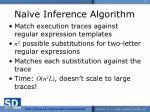 na ve inference algorithm
