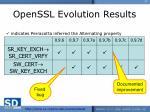 openssl evolution results