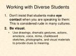 working with diverse students