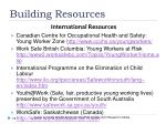 building resources