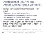 occupational injuries and deaths among young workers