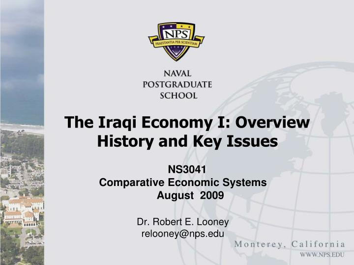 the iraqi economy i overview history and key issues n.