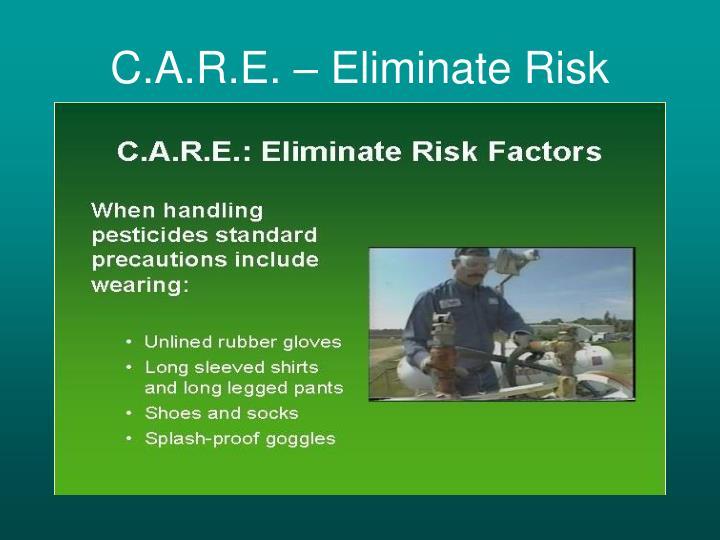 C.A.R.E. – Eliminate Risk
