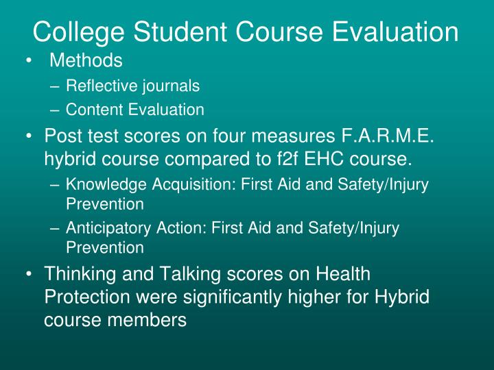 College Student Course Evaluation