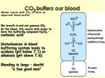 co 2 buffers our blood