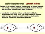 noncovalent bonds london forces