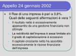 appello 24 gennaio 2002