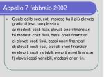 appello 7 febbraio 2002